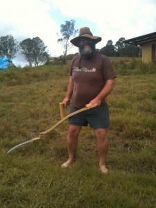 Mark with scythe